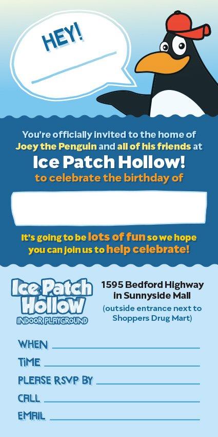 Ice Patch Hollow Birthday Invitation